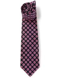 Corbata de Flores Negra de Kiton