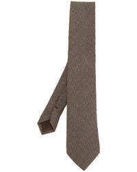 Corbata de lana a cuadros marrón de Church's