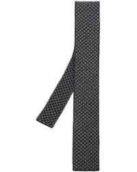 Corbata de lana de punto negra de Eleventy