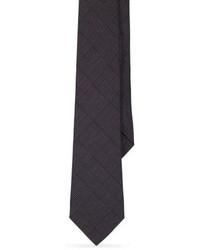 Corbata de lana en gris oscuro