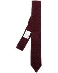 Corbata de lana estampada burdeos de Lardini