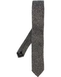 Corbata de lana gris de Corneliani