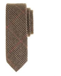 Corbata de lana marrón