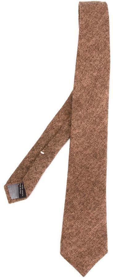 Corbata de lana marrón de Eleventy