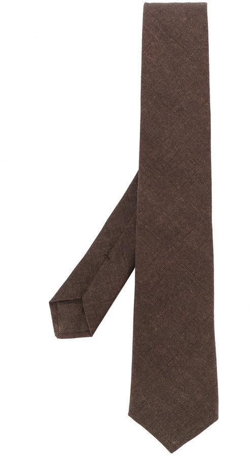 Corbata de lana marrón de Kiton