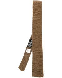 Corbata de lana marrón de Missoni