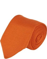 Corbata de lana naranja
