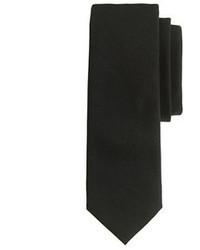 Corbata de lana negra