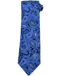 Corbata de paisley azul