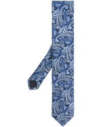 Corbata de paisley azul de Hugo Boss