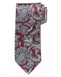 Corbata de paisley burdeos