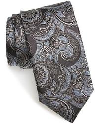 Corbata de paisley en gris oscuro