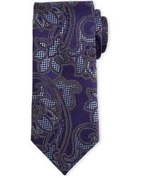 Corbata de paisley en violeta