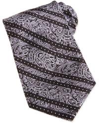 Corbata de paisley gris
