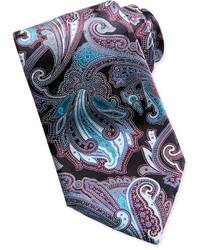 Corbata de paisley negra
