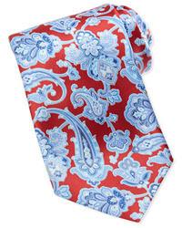 Corbata de paisley roja