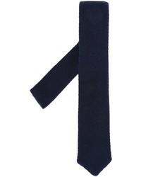 Corbata de punto azul marino de Eleventy