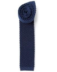Corbata de punto azul marino de Mr Start