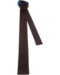 Corbata de punto marrón de Drumohr