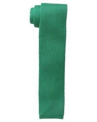 Corbata de punto verde