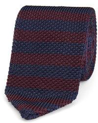 Corbata de rayas horizontales azul marino