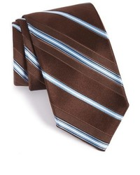 Corbata de rayas horizontales en marrón oscuro
