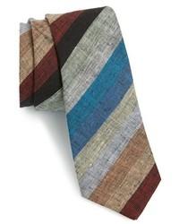 Corbata de rayas horizontales en multicolor