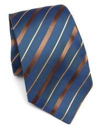 Corbata de rayas horizontales en verde azulado