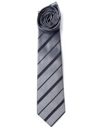 Corbata de rayas horizontales gris