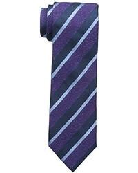Corbata de rayas horizontales morado de Countess Mara