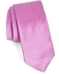 Corbata de rayas horizontales rosa