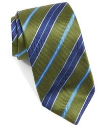 Corbata de rayas horizontales verde oliva