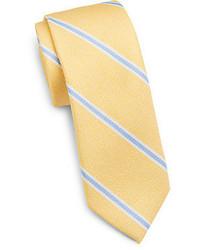Corbata de rayas verticales amarilla