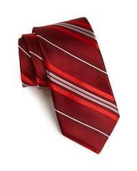 Corbata de rayas verticales burdeos