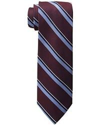Corbata de rayas verticales burdeos de Tommy Hilfiger