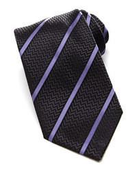 Corbata de rayas verticales en gris oscuro