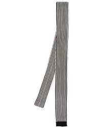 Corbata de rayas verticales en negro y blanco de Saint Laurent