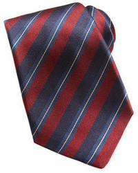 Corbata de rayas verticales en rojo y azul marino