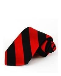 Corbata de rayas verticales en rojo y negro