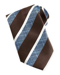Corbata de rayas verticales marrón