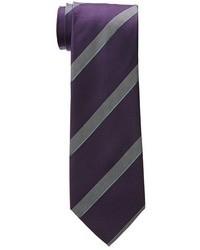 Corbata de rayas verticales morado oscuro