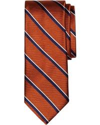 Corbata de rayas verticales naranja