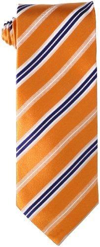 Corbata de rayas verticales naranja de Geoffrey Beene