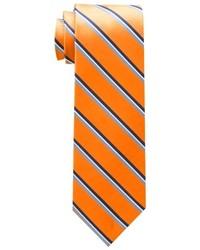 Corbata de rayas verticales naranja de Tommy Hilfiger