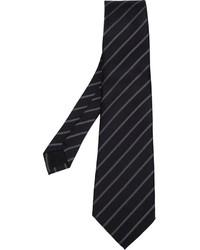 Corbata de rayas verticales negra de Comme des Garcons
