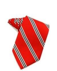 Corbata de rayas verticales roja