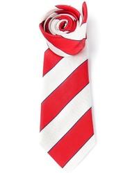 Corbata de Rayas Verticales Roja y Blanca de Paul Smith