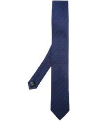 Corbata de seda a lunares azul marino de Dolce & Gabbana