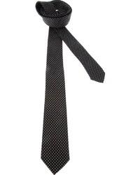 Corbata de seda a lunares en negro y blanco de Dolce & Gabbana