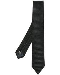Corbata de seda a lunares negra de Ermenegildo Zegna